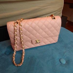 Rare baby pink chanel bag